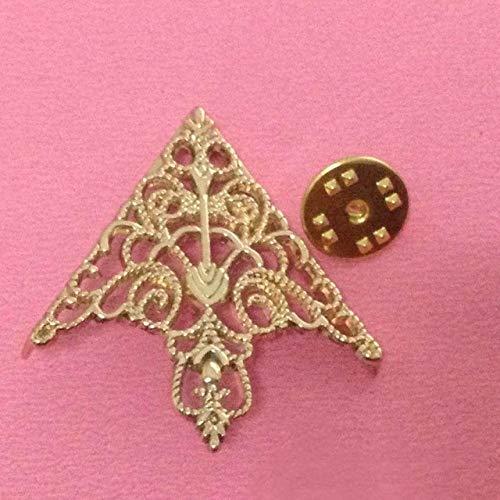 HJ Pendientes de tuerca de corona calada collar hebilla vintage collar abrazadera joyería (bronce antiguo) pendientes mujeres