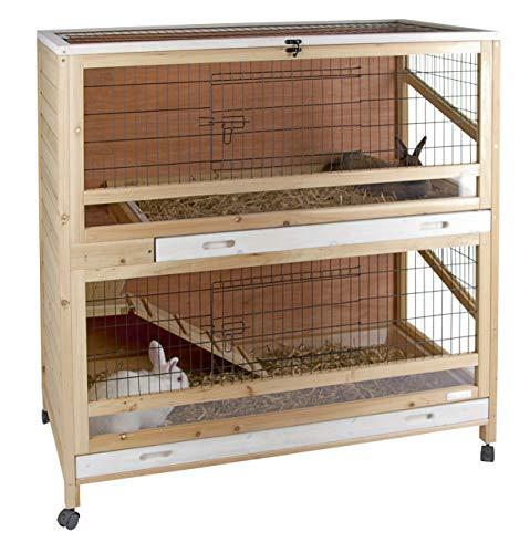 Kerbl Cage pour Petit Animaux Indoor Deluxe 2 Niveaux 115 X 60 X 118 cm