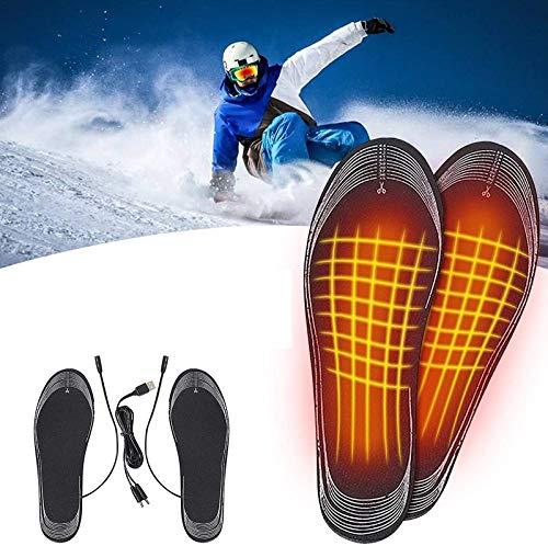 2021 Plantillas Calefactables con Mando A Distancia, Calentadores De Pies Carga USB Plantillas Pies, Eléctrica Calefacción Inverno...