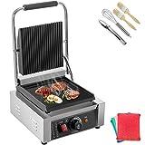Happybuy 110V Commercial Sandwich Press Grill 1800W Electric Panini Maker Non-Stick 122°F-572°...