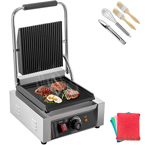 Happybuy 110V Commercial Sandwich Press Grill 1800W Electric Panini...