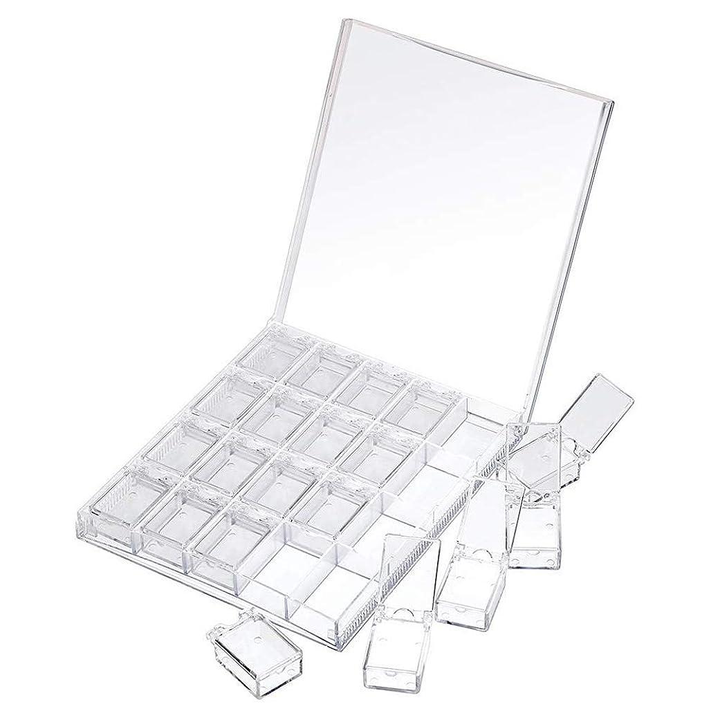 穏やかな小間メロドラマティックMOOJOO ネイルケース ネイル 収納 ボックス 小分け 20セクション 透明?