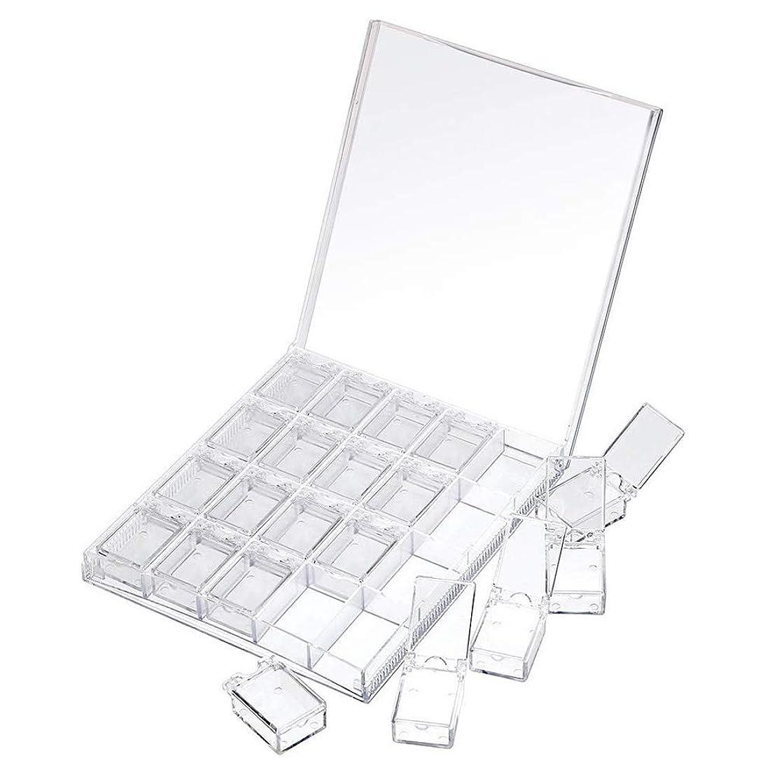 口解読するつぼみMOOJOO ネイルケース ネイル 収納 ボックス 小分け 20セクション 透明?