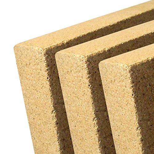 indoba® IND-70703-VE203-3 - Vermiculite Platte - Schamotte Ersatz für Kaminöfen - Stärke: 20 mm - Maße: 500 x 500 mm - 3 Stück