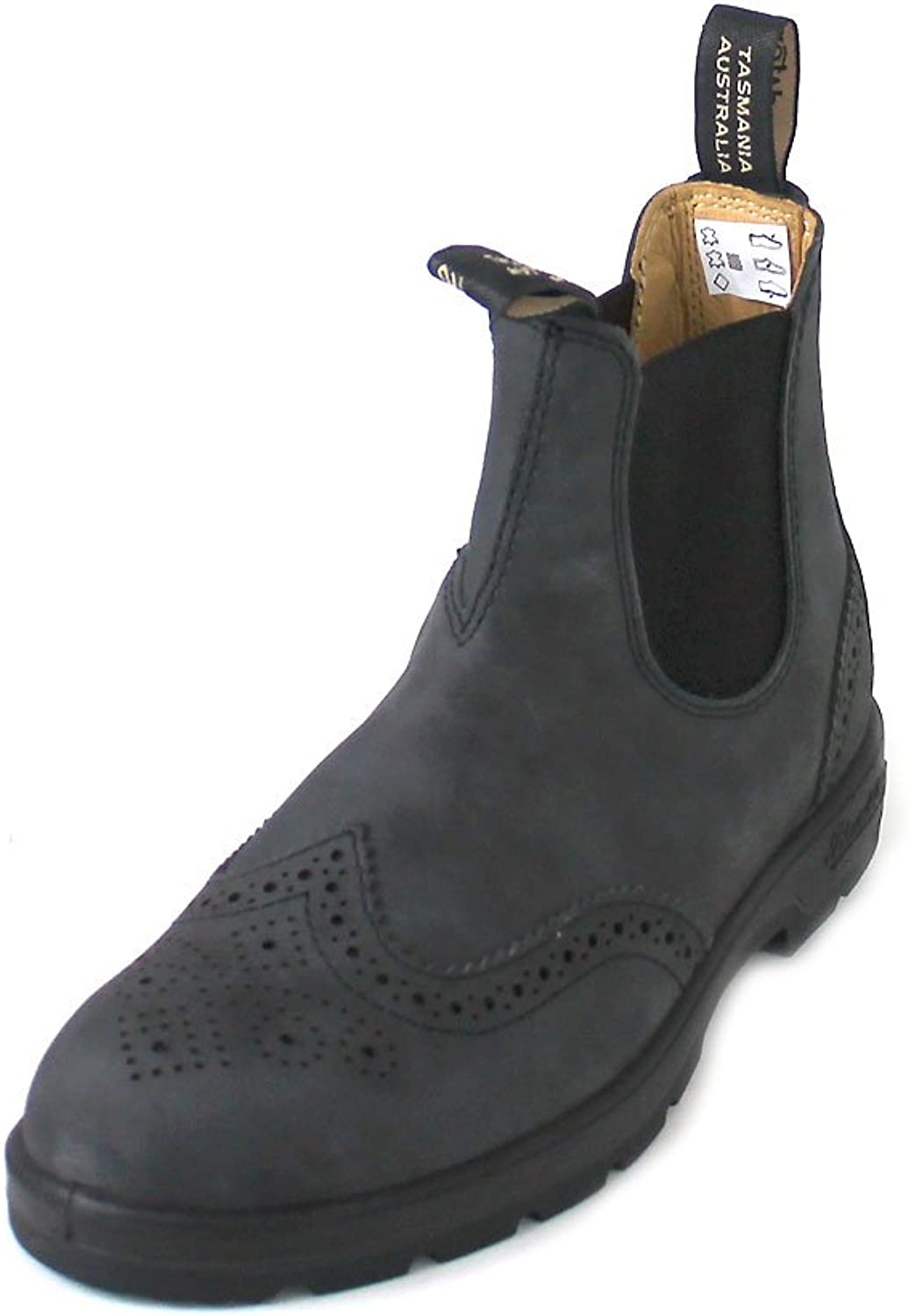 bluendstone Unisex Leather Lined Pull-On Boot Rustic Blk 4.5 M UK