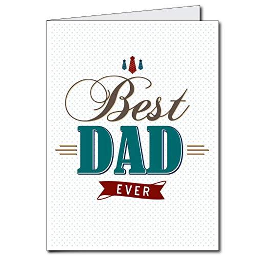 VictoryStore Jumbo tarjetas de felicitación: tarjeta gigante para el día del padre (mejor diseño de papá siempre) tarjeta de 2 pies x 3 pies con sobre
