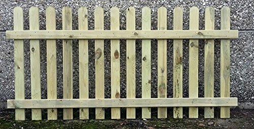 F&G Supplies 90cm (3ft) tall x 1.8m (6ft) Picket Garden Fence Panel hand built treated wood