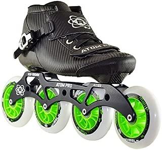 ATOM Pro Outdoor Inline Speed Skate 4 Wheel Package Matrix Wheels - 12.8 4x100 Frame - Size 10