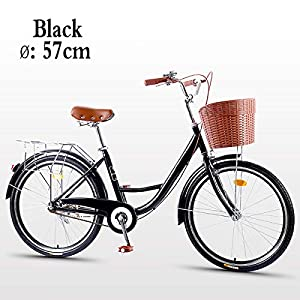 Comfort Bikes Awyac Dutch Bike for Women (26″), Summer Women with Aluminum Frame Comfortable City Bike with A Basket, Bike Ride Wheels Women, 1 Speed [tag]