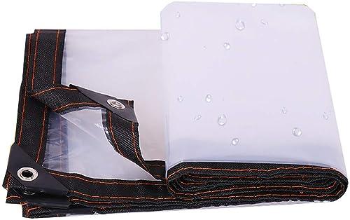 YINUO Couteau en pvc grattant la toile de pluie épaississant la bache de prougeection solaire imperméable à l'eau de toile solaire en tissu push-pull top cloth blanc (Taille   3x6m)