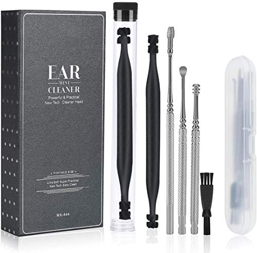 Ear Wax Removal Cleaner Tool Kit, FERNIDA 4 Types Earwax Remover Picks New Turbofan Structure Tech for Complete Ear Cleaning, Efficient Earsafe Design and Portable Storage Box Adults and Kids
