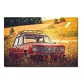 GIRDSS Russland Classic Car Lada Poster Leinwanddrucke