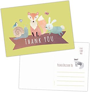 50 Woodland Baby Shower Thank You Note Cards (50)