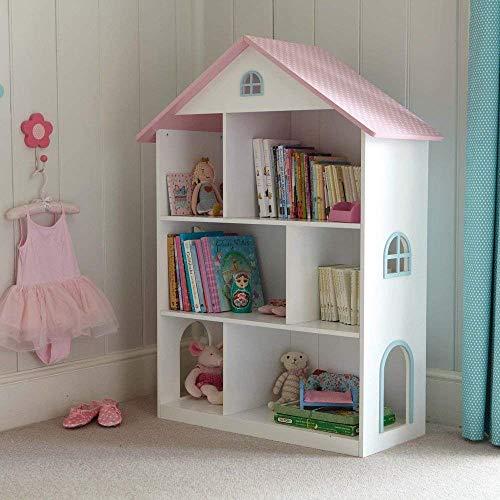 Estantería de madera, con diseño de castillo, para libros, juegos y juguetes Casa de muñecas