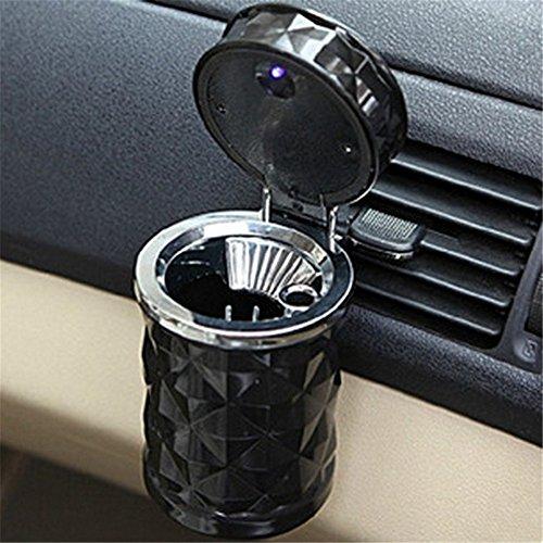 Posacenere da Auto con HENGSONG LED-Leuchten 11,2 * 8 cm, Acrilico, nero, taglia unica