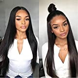 Allove Hair Glueless 360 Lace Front Wigs Human Hair with Baby Hair Pre Plucked 150% Density Straight Human Hair 360 Lace Wigs for Black Women (22inch)