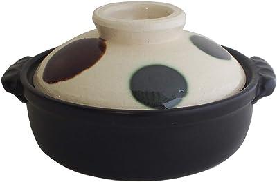 マルヨシ陶器 セラミック加工 IH 土鍋 和ごころ 白 6号 M1071 黒 1.2l 土鍋 IH対応 おしゃれ 6号 M1071