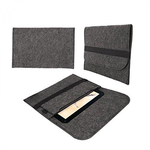 eFabrik Tasche für Blaupunkt Endeavour 1001 DVBT 10.1 Schutztasche Hülle Tablettasche Sleeve Hülle Soft Cover Schutzhülle Filz dunkel grau