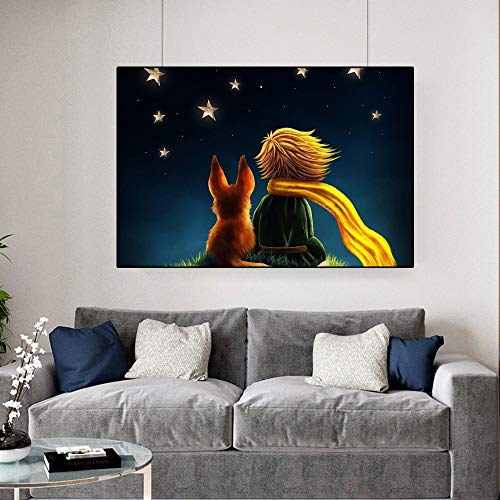 Jigsaw puzzle 1000 piece Mural picture decoration little prince movie picture nordic style jigsaw puzzle 1000 piece Educational Intellectual Decompressing Toy Puzzles Fun Family Ga50x75cm(20x30inch)