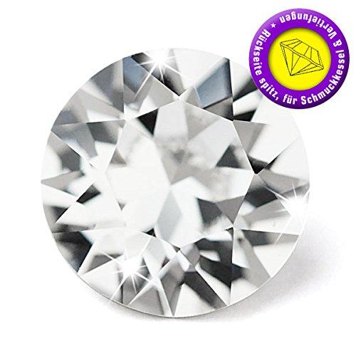 Swarovski 50 Stück Elements 1088 Chaton, Crystal, PP32 (Ø ca. 4,00-4,10 mm), Strasssteine zum Einkleben oder Fassen