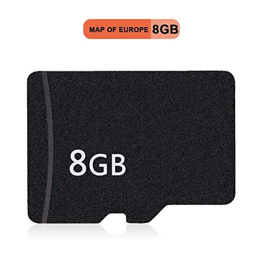 Hanbaili Europa GPS-Navigationskarte,8 GB Kartenkarte Speicherkarte für Car MP5/Autoradio DVD Player/GPS Navigator
