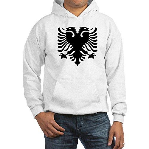CafePress Albanian Eagle Emblem Pullover Hoodie, Classic & Comfortable Hooded Sweatshirt White