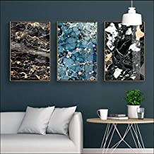 YHEGV Abstract Marble Texture Decorative Painting Nordic Simple Frameless Drawing Core 50X70cm No Frame 3 Pieces Set
