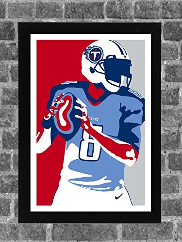 Tennessee Titans Marcus Mariota Portrait Sports Print Art 11x17