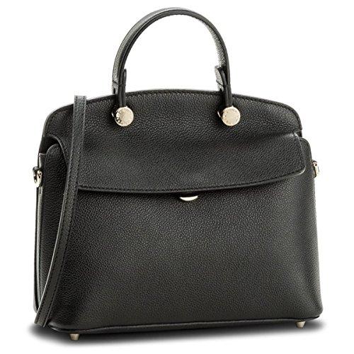 Furla My Piper Ladies Small Black Onyx Leather Shoulder Bag 942208