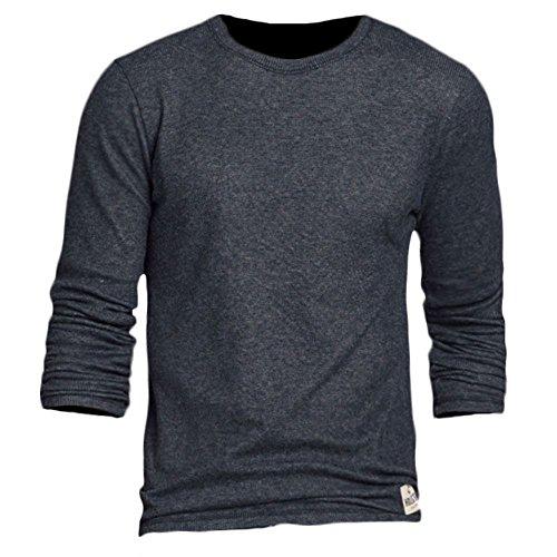 Hollister Hobson Waffle Camiseta de manga larga para hombre (324-369-0593-013) Azul azul marino S