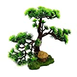 Vigcebit1 Madera de pino artificial, simulación creativa para el hogar, decoración de resina, decoración de acuario, pino artificial