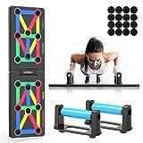 Lixada Tabla de Flexiones 12 en 1 Multifuncional Plegable Push Up Rack Board para Fitness en Casa Entrenamiento de Fuerza