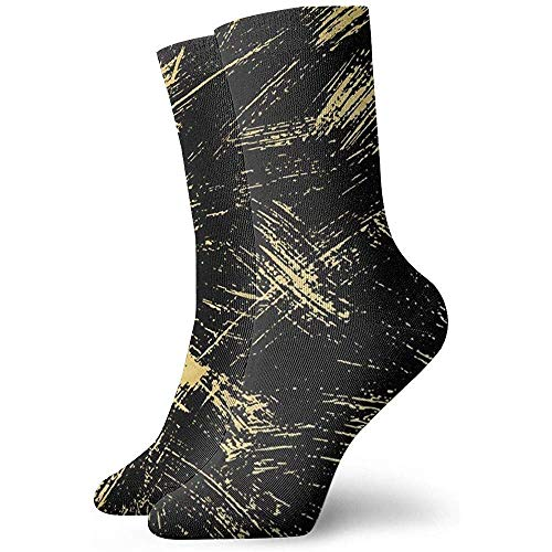 LLeaf Novedad Funny Crazy Crew Sock Gold Marbling Design Printed Sport Athletic Stocki ngs 30cm Calcetín para...