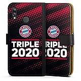 DeinDesign Étui Compatible avec Huawei P20 Lite Étui Folio Étui magnétique FC Bayern Munich FCB...