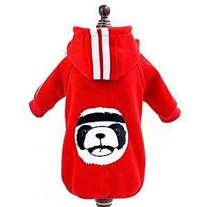 Zunea Hiver chaud Manteau Panda Polaire Capuche Sweat Veste de sport Vêtements pour petit chien chat chiot Animal domestique Costume Apparel