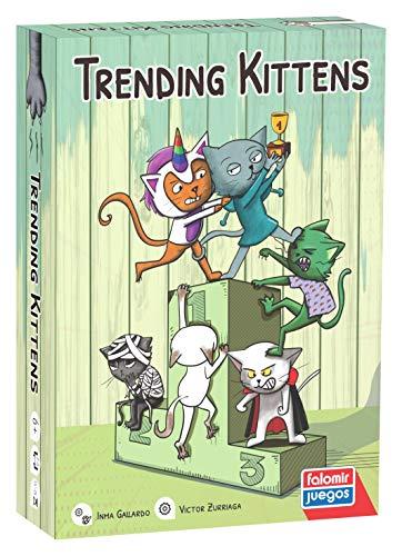 Falomir- Trending Kittens. Juego de Mesa para fomentar la visión Espacial y la adaptación a los Cambios. Cartas, Multicolor (30041)