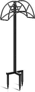 TomCare Garden Hose Holder Detachable Metal Water Hose Holder Hose Hanger Heavy Duty Hose Holder Free Standing Garden Hose Storage Hose Stand for Outside Yard, Black