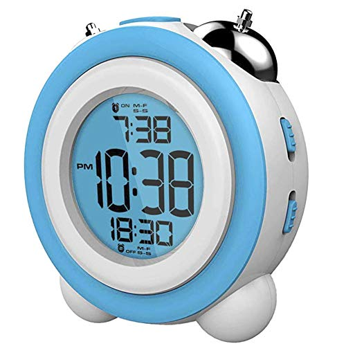 DAEWOO - Reloj despertador digital DCD-220BL, Verde, Blanco