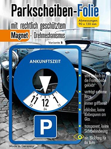 Andre Kulakowski Parkscheibe Aufkleber Variante B Folie Sticker Etikett selbstklebend.