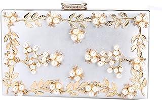 KAIDON Flower handgemachte mehrfarbige Damenbanketthandtasche mit großer Kapazität