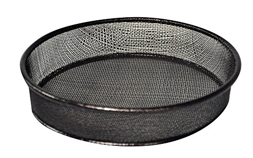 Kingfisher BFMESH Metal Mesh Bird Feeding Dish, Transparent, 18x18x3.2 cm