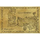 Game of Thrones Poster con diseo Antique Map, multicolor, 61 x 91.5 cm