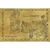 Game of Thrones ゲーム オブ スローンズ ポスター アンティーク マップ 211