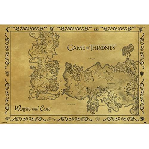 Pyramid PP33390 - Poster con diseño Game Of Thrones Antique Map, 61 x 91.5 cm