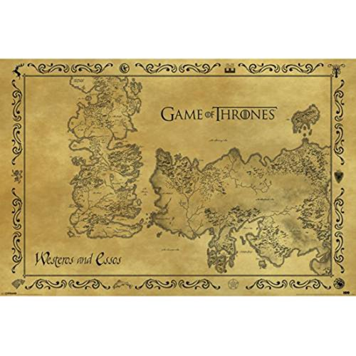 Pyramid PP33390 - Poster con diseño Game Of Thrones Antique Map, 61 x 91.5 cm