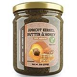 Hueso de Albaricoque y Mantequilla de Miel   Producto No OGM   Sin Azúcar Añadido   100% Superalimento   Tostadas de Desayuno Para Untar   Alternativa Saludable de Nutella