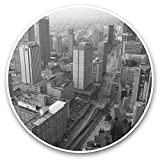 Impresionante pegatinas de vinilo (juego de 2) 7,5 cm (bw) – Bogotá Cundinamarca Colombia calcomanías divertidas para portátiles, tabletas, equipaje, reserva de chatarra, frigorífico, regalo genial #42613