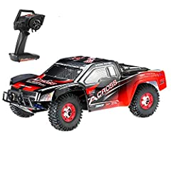 50km/h high speed. 2.4G remote radio control, the control distance is up to about 100m. Four huge anti-slip wheels connected by shockproof springs are terribly stable. Wheels are made from reinforced and elastic rubber, making the car suitable for ru...