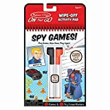 Melissa & Doug On The Go Spy Games Wipe-Off Activity Pad Reusable Travel Toy with 2 Dry-Erase Markers, Great Gift for Girls and Boys - Best for 6, 7, 8 Year Olds and Up