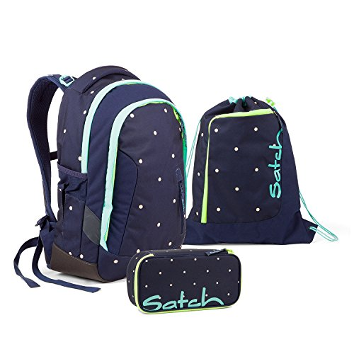 Satch Sleek Pretty Confetti Schulrucksack Set 3tlg.